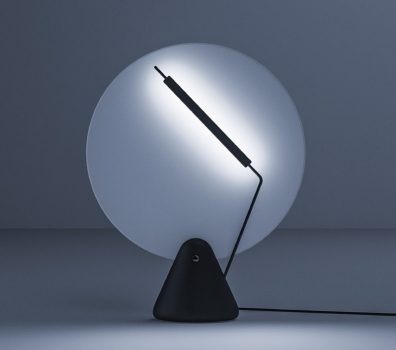 Adjust light like a turntable with this record lamp